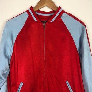 Forever 21 Jackets & Coats - Forever 21 Striped Sleeve Bomber Jacket NWT